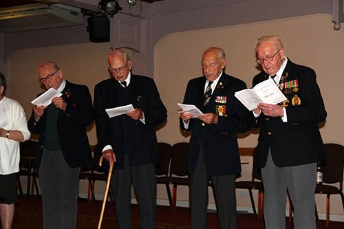 """Some of the veterans singing """"we are the D-day dodgers"""" at the end of the reunion weekend"""