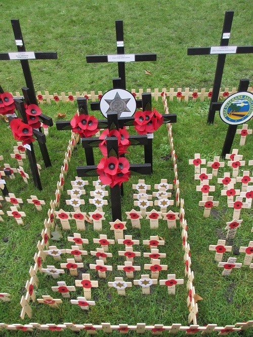 Italy Star Association 1943-1945 plot at Field of Remembrance 6th November 2014