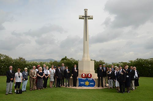 Group photo of all those who were on the pilgrimage - Salerno CWGC Cemetery 9 September 2013